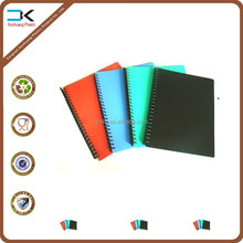 Colorful pp cover spiral notebook as promotion gift