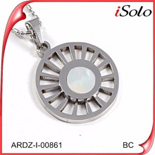 Bulk fashion jewelry china stainless steel blank wholesale silver pendants