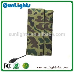 Dual Output 7W Solar power charger bag/Solar mobile charger/Protable solar charger