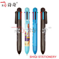 Thick Plastic Cartoon Multi-colors Ball Pen(SQ2057)
