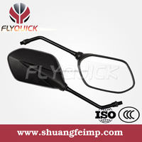 ZF001-64 FLYQUICK custom convex mirror for sale, motorcycle motorbike racing bike side mirror plastic mirror made in china,