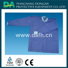 disposable surgery doctor cover coat with buttons open