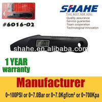 0 to 100PSI 7bar 700Kpa portable digital tyre pressure gauge #6016-02