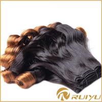 Funmi blonde two tone indian human hair weaving hair ponytail