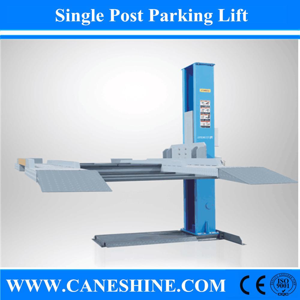 Single Hydraulic Automotive Lifts : Caneshine hydraulic automotive single post parking