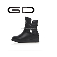 Cheap PU winter boots keep warm suede black white snow boots