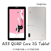 """7"""" 86V mid Android 4.4 KitKat A33 Quad Core 7inch 2G Phone Tablet PC Bluetooth front and rear Cameras"""