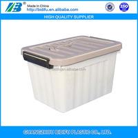 plastic clear storage box set heavy-duty plastic storage box with wheels