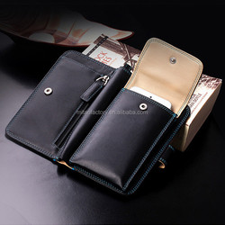 2015 New Men Birthday Gift Leather Bag For Men With Mobile For iPhone 6 Purse for samsung NOTE 4 Hangbag Luxury Brand