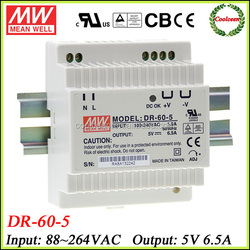 Meanwell DR-60-5 din rail switching power supply 5v