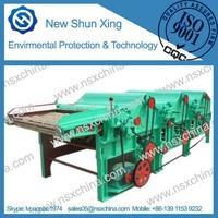 qingdao new shunxing fibre waste recycling machine with three rollers for yarn nylon jute yarn nonwoven textile fiber NSX-QT310