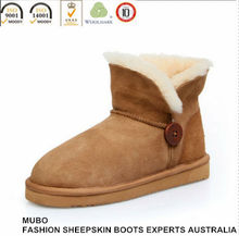 Bailey Button Sheepskin Ankle Boot For Women
