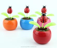 flip flap solar flower beetle wholesale solar powered swing flip flap dancing flowers, car decorative gift sun doll factory