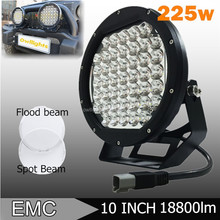 "2015 New Products Car Accessory 12v 225w LED Spotlight Round 10"" 225w LED Driving Light for Jeep SUV ATV Hulix"