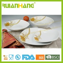 Hot new products for 2015, ceramic arcopal style dinner set, square wedding crockery