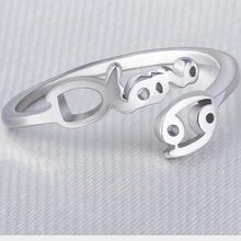 Preventive radiation Zodiac opening women acrylic jewelry ring
