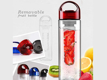 Fruit infusion bottle water bottle with filter/sports water bottle