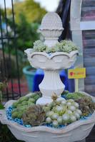 2015 Wholesale Tiered Resin Garden Fountain Planter