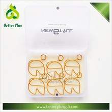 Promotional decorative metal paper clips with packaging