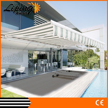 Fashion popular aluminum car canopy, electric patio awning, extendable awning