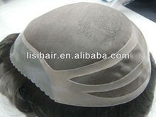 High quality pure human indian hair toupee for black men