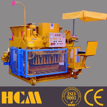 mobile fly ash hollow brick machine QMY6-25 small machines to make money