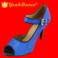 Azul marinho sapatos de dança latina 7.5/8.5/10cm altura do salto de sapatos de dança de dallas