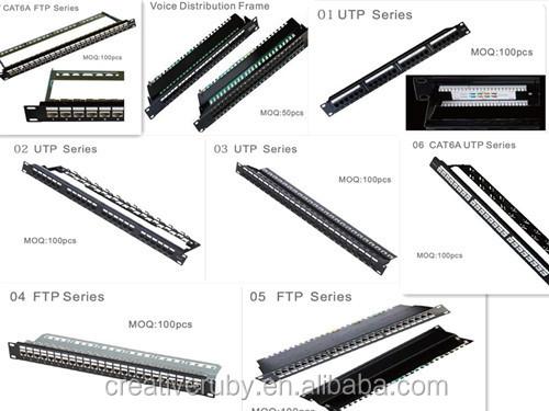 19 u0026quot  48port 24 ports 1u utp cat6 rj45 patch panel with