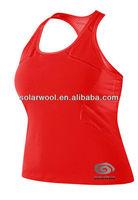 Ladies merino wool T-shirt tank tops