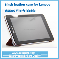 "Tablet Accessory Smart Cover for Lenovo 8.0 A5500 3 Foldable Stand Leather Case for 8"" Tablet PC Flip Coque"