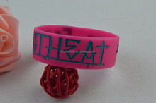 Rubber elastic sublimation printed bracelet polyester woven wristband