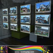 Real Estate Agent Hanging Acrylic LED Window Displays