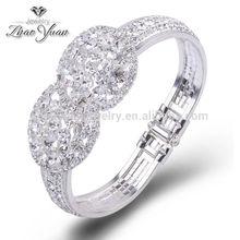 estilo de la moda hecha a mano baratos al por mayor de plata de cristal de alambre para la joyería