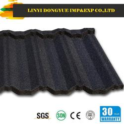 Dongyue factory shandong linyi synthetic resin roof tile gavalume steel roofing tile metal roofing tiles manufacturer