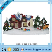 Handmade Resin Figurine Christmas Snow Covered Landscape