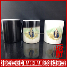 HCC ceramic hot water photo changing mug manufacturer from yiwu market