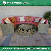 natural rattan outdoor furniture sofa