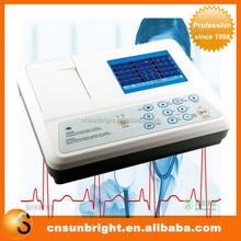 Digital 3 Channel 12 lead ECG/EKG machine + software Electrocardiograph, Printer