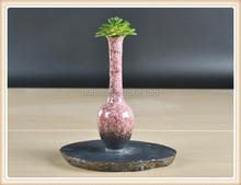 antique ceramic art vase unique color