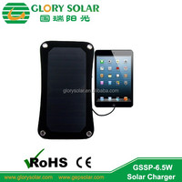 high quality popular mobile phone ipad 5V device portable solar charger