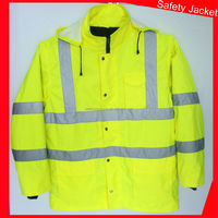reversible yellow safety reflective winter jackets