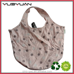 2015 Manufacturer dum biggest selling new trendy eco recycled reusable nylon polyester foldable folding shopping bag cheap