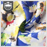 Zunguan printed french silk chiffon fabric prices