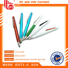 Gif ball pen,silvered ball pens,plastic ball pen with clip