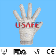 stainless steel metal mesh butcher safety cut resistant glove