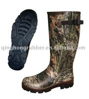 Water proof whole sale Camo hunting rubber boot