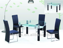 round folding glass dining table sets