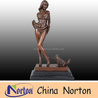 China manufacture life size bronze nude girl statue NTBH-S0544S
