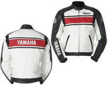 yamaha leather jacket Original Cow Hide leather soft leather jacket