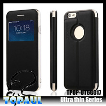 New Design thin PU Leather Credit Card Slot Mobile Phone Case for iPhone 5s